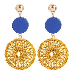 *GIRALDA* Yellow x Blue Fashion Dangle Earrings